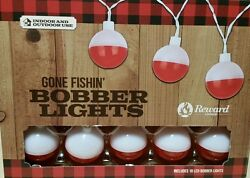 Fishing Bobber String Lights Man Cave She Shed Cabin Cottage Nautical Decor NEW
