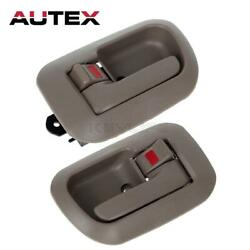 Pair Inner Front Left Right LH RH Door Handle Set For 1998 to 2003 TOY
