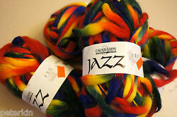 SUPER SALE: x4 skeins Cascade Knitting Yarns JAZZ untwisted in Bold Colors