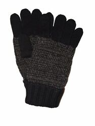 BRIONI Mens Winter Gloves Brown Cashmere Tweed Knit Italy Brand New Glove Size M