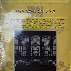 ONE HUNDRED YEARS OF GREAT ARTISTS AT THE MET THE BING YEARS II-SEALED1985 2LP $22.10