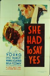 SHE HAD TO SAY YES (1933) 1915