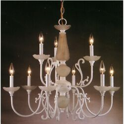 Classic Lighting Bloomington 9 Light Chandelier White - 3069W $249.99