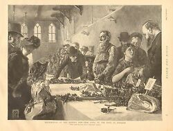 The Queen's New Year Gifts To The Poor Of Windsor Vintage 1892 Antique Art Print