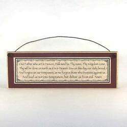 The Lord#x27;s Prayer Sign Catholic Rustic country farmhouse religious Plaque $13.04