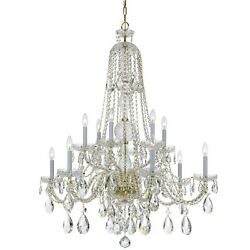 Crystorama Traditional Crystal Elements Crystal Chandelier - 1112-PB-CL-S