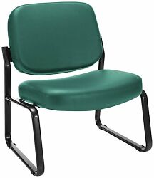 Lot Of 10 OFM Big and Tall Vinyl Armless Guest  Reception Chair