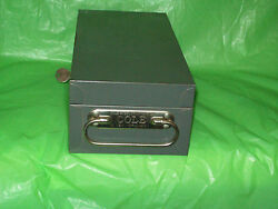 Older Cole Security Lock Box  w United Services Life Ins. Co. Plaque