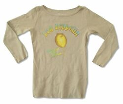 Led Zeppelin Squeeze My Lemon Girls Juniors Tan Thermal Shirt New Official $18.99
