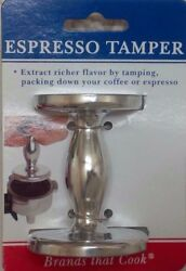 Harold 2 Sided Silver Espresso Coffee Grounds Packing Tamper w 50mm amp; 55mm Base $9.95