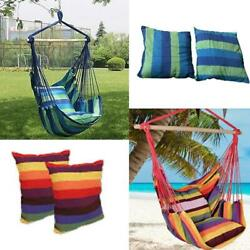 New Chair Hanging Rope Swing Hammock Outdoor Porch Patio Yard Seat Mul Colors $29.98