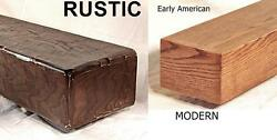 Rustic or Modern Oak Fireplace Mantel Mantle Shelf Made to your size 26 Colors