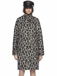 Gucci Black Animalier Mohair Coat in Leopard-Print Size:404 $1995 NWT ITALY