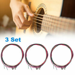 3 x Set of Guitar Strings Replacement Steel String for Acoustic Guitar $8.48