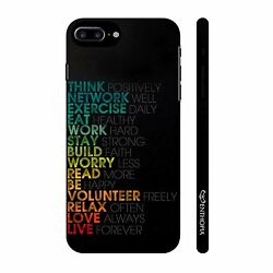 Mantras for life Hard Back Cover Case For Apple Iphone 7 Plus 5215
