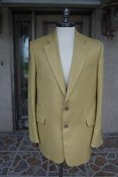 JACK VICTOR Italian Cashmere Sport Coat ~ Size 42L ~ Summer Weight Cashmere!