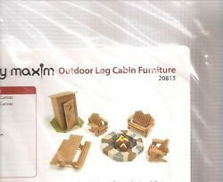Mary Maxim Outdoor Log Cabin Furniture Plastic Canvas Needlepoint Kit 20815