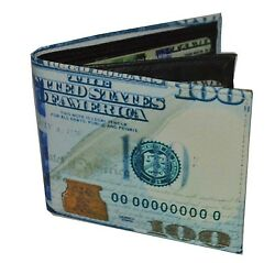 Mens Bifold Exotic Wallet Picture of Hundred Dollar Bill with printed gift box. $9.99
