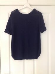 LAURA ASHLEY NAVY BLUE LADIES JUMPER BUTTON UP BACK SIZE 16 WORN ONCE