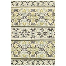 Couristan Covington Pegasus Ivory & Navy & Lime IndoorOutdoor Rug