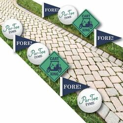 Par-Tee Time - Golf Lawn Decorations - Outdoor Birthday or Retirement Party Yard