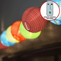 OpenBox 24 Multi Color Mini Nylon String Patio Lights - Extra Long 16ft - Waterp