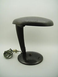 MACHINE AGE Norman Bel Geddes COBRA Vintage DESK TABLE LAMP DESIGN FARIES RARE