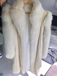 Pure Mink Pure White Diamond Quality Long Coat Size 8-10