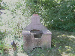 STONE FIREPIT FOR GRILLING - CLOSE TO 100 YEARS OLD - LOCAL PICK UP ONLY