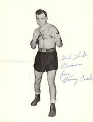 TOMMY CIARLO - INSCRIBED PRINTED PHOTOGRAPH SIGNED IN INK