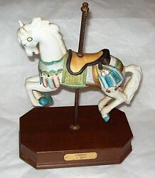 Vintage Impulse Giftware Carousel Horse Music Box Carmel C 1914