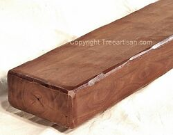 Walnut Fireplace Mantel Floating Shelf Rustic Sawmilled Solid Beam Made to Size