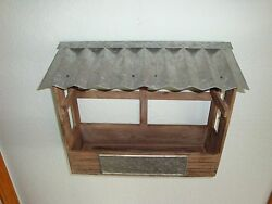 Nice Wood & Metal Rustic Wall Hanging Planter-Farmhouse Decor-She Shed-Primitive