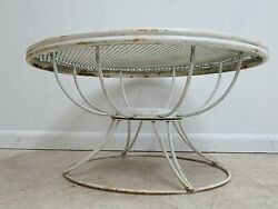 Vintage Mid Century Homecrest Swivel Outdoor Patio Porch Coffee Table