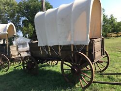 Horsedrawn Covered Wagon Antique Driving Equestrian Advertising Western Decor