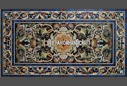 6'x3' Marble Table Dining Top Modern Pietradura Multi Inlaid Patio Stones H3292A