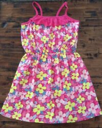Gymboree Tropical Girls flower knit Pink Green Yellow dress size 6 NWT