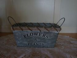 Rectangle Metal PlantFlower Holder-FarmhouseRanch Decor-Garden-Patio-She Sheds