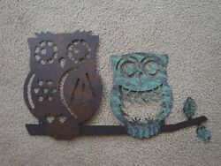 CUTE Metal Owl Wall Hanging-Birds-Wildlife-Trees-She Sheds-IndoorOutdoor