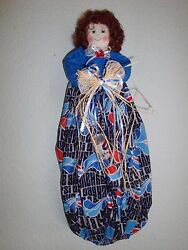 Pepsi Theme PlasticGrocery Bag HolderDispenserhandcrafted-Dolls-She Sheds