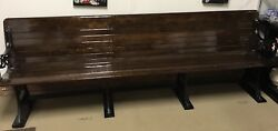 ANTIQUE RAILROAD STATION DEPOT BENCH ORNATE CAST IRON & WOOD RARE