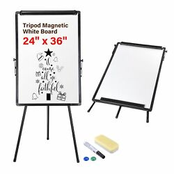 24quot;x36quot; Magnetic Dry Erase White Board with Tripod Stand Live Stream Homeschool $67.90