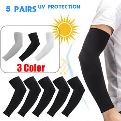 5 Pairs Cooling Arm Sleeves Cover Basketball Golf Sport UV Sun Protection Men $7.99