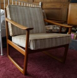 Pair of Danish Modern Peter Hvidt France & Son Arm Chairs Midcentury Furniture