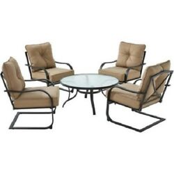5 Pc Patio Chat Set Table & Chairs Outdoor Furniture Porch Yard Lawn Pool Garden