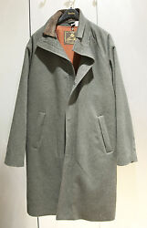 NWT Loro Piana  Longer Icer Charcoal Gray Cashmere Storm System Coat  sz 50M