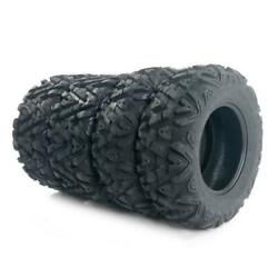 4 * TIRE SET ATV TIRES 25quot; 25x8x12 25x10x12 with warranty 6ply front amp; rear $221.58