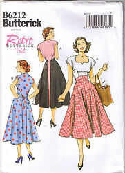 Vtg 50s Pullover Rockabilly Back Wrap Dress Sewing Pattern Plus 14 16 18 20 22
