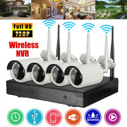 4CH 720P HD DVR P2P WIFI CCTV Wireless Camera Recorder Outdoor Security System