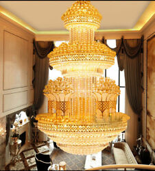 Modern duplex villa stairs K9 crystal big chandelier Lighting Fixture  # 91809